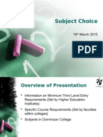 SubjectChoicePresentation_March2015