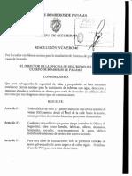 Cuerpo de Bomberos de Panama Resolucion 46