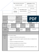 Modelo de planificación física química
