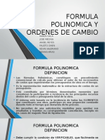 Formula Polinomica y Ordenes de Cambio