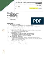 oral-un exemple et le code pour noter 090315