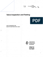 API 598(Valve Inspection and Testing)