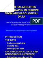 UPPER PALAEOLITHIC DEMOGRAPHY IN EUROPE FROM ARCHAEOLOGICAL DATA