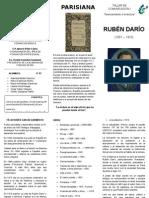 Tríptico, Parisiana, Rubén Darío