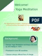 Introduction to Sahaja Yoga Plus Knowledge of the Chakras May 2012