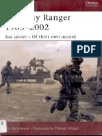 Osprey - Warrior 065 - US Army Ranger 1983-2002 - Sua Sponte - Of Their Own Accord