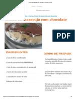 Creme de Maracujá Com Chocolate