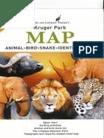 Kruger-Park, MAP, Animal-Bird-Snake-Identification Tinkers safari guide in English, 2012