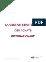 Synthèse Gestion Des Achats Internationaux