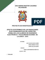 Efecto de Las Radiaciones Electromagneticas Del Espectro Visible