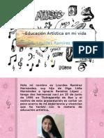 """Autobiografía """"Educación artística en mi vida"""""""