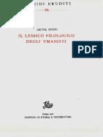 S. Rizzo Il Lessico Filologico Degli Umanisti