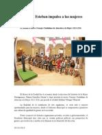 03.10.2013 Comunciado Refrenda Esteban Impulso a Las Mujeres