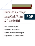 Historia de La Psicología James Catell William James