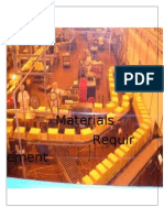 Material Requirements Planning Final
