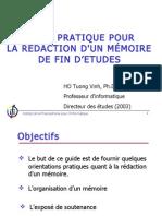 Guide Pratique Pour La rÉdaction d'Un mÉmoire