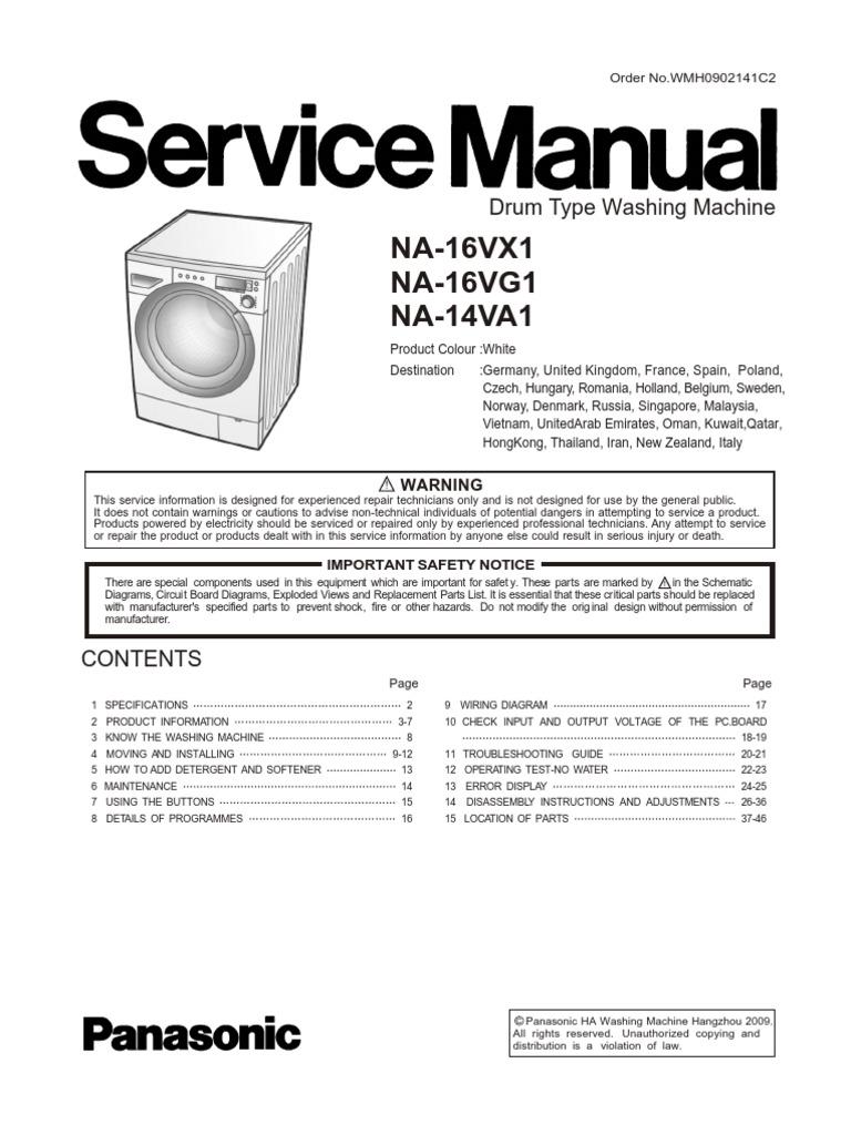 Na 16vx1 16vg1 14va1 Washing Machine Laundry Germany Wiring Diagrams