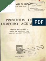 Principios Del Derecho Agrario - Gelsi Bidart