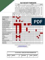 University HS Training Matrix