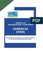 Organización y Funciones de La Gerencia Legal