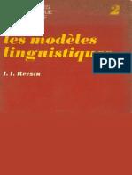 (Monographie de linguistique mathématique) I. I. Revzin-Les modèles linguistiques-Dunod (1968).pdf