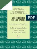 Almagro 2008 Los Origenes de Los Vascos