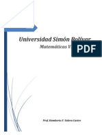 Matemáticas VI 2015 Humberto F Valera