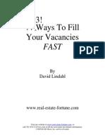 Lindahl 77 Ways to Fill Vacancies
