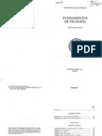 A. Millán Puelles. Fundamentos de Filosofía