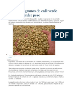 Consumir Granos de Café Verde Ayuda a Perder Peso