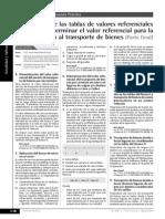 Aplicación de Las Tablas de Valores Referenciales Para Determinar El Valor Referencial Para Detracción Al Transporte de Bienes II PARTE