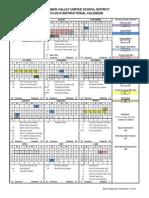 School Monthly Calendar