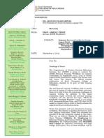 Sample Letter Requesting for Travel Order