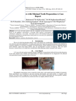 Ceramic Veneers with Minimal Tooth Preparation-A Case Report