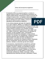 Suriano - Las Practicas Políticas del anarquismo Argentino