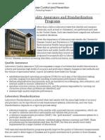 CDC - Laboratory Standards