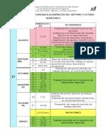 Calendario de Practicas Docentes de 7º y 8º