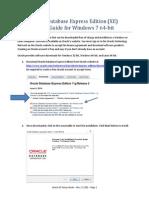 Setup Oracle Express Edition