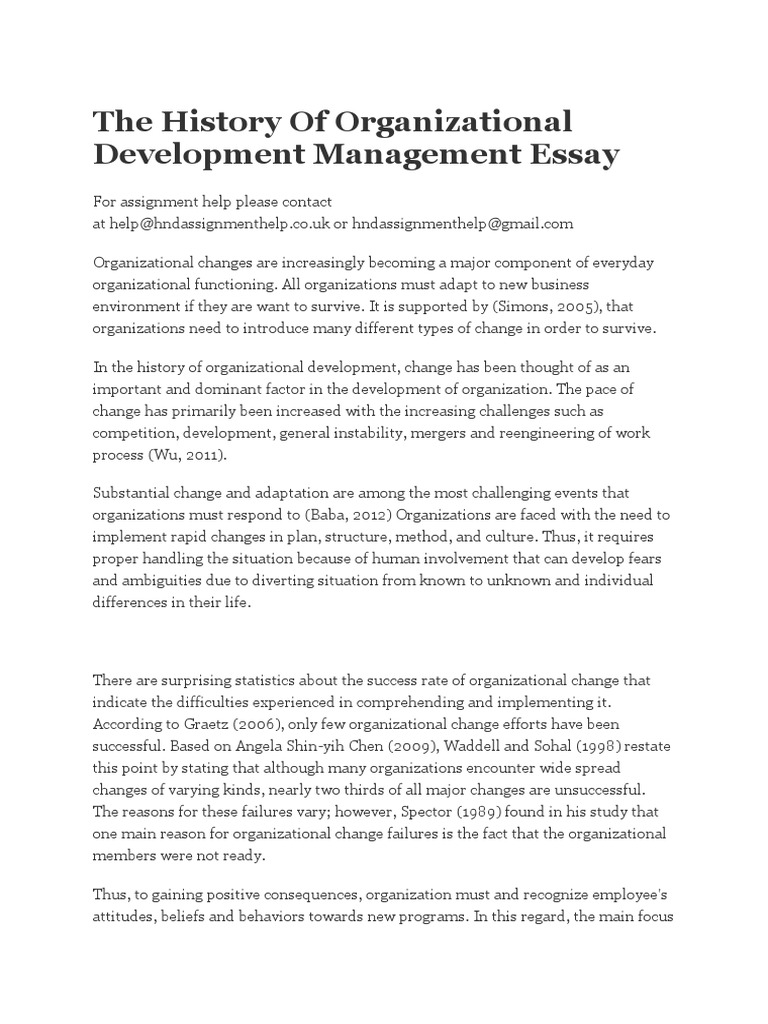 the history of organizational development management essay  survey  the history of organizational development management essay  survey  methodology  questionnaire