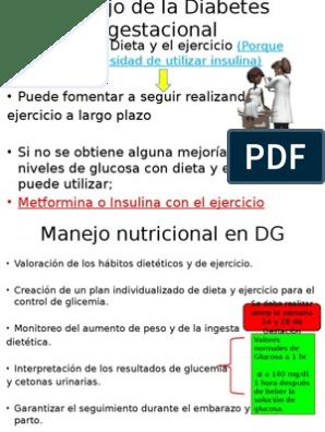 diabetes gestacional causada por una mala definición de la dieta