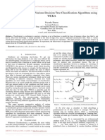 Comparative Analysis of Various Decision Tree Classification Algorithms Using WEKA