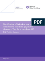 Classification of Behaviour and Experience in Relation to Functional Psychiatric Diagnoses-Time for a Paradigm Shift