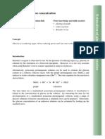 Estimation of glucose concentration