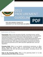 2013 Procurement Guidelines