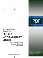 Business Drivers Behind the Online Spreadsheet Boom
