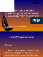 Potenţialul Hidro-climatic Şi Valorificarea Lui În Activităţi Turistice