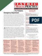 Acute Asthma in the Pediatric Emergency Department