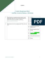 Pakistan Country Requirement Sheet Australia