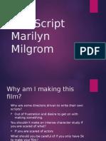 The Script - Marilym Milgrom