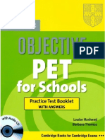 Pet for Schools - Testbooklet